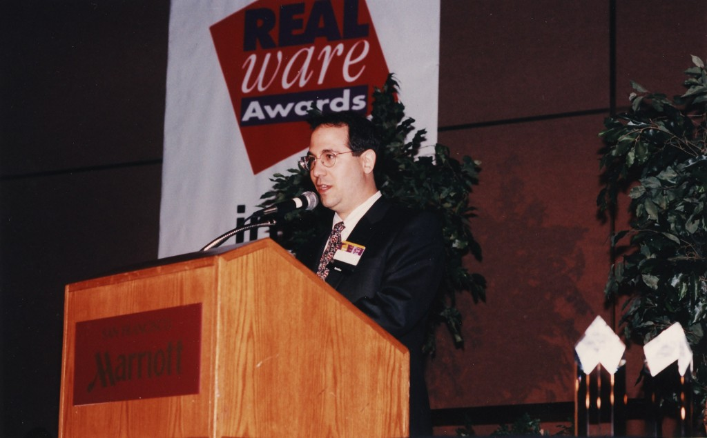 Dave Kalman announcing the RealWare Award winners (1992?)