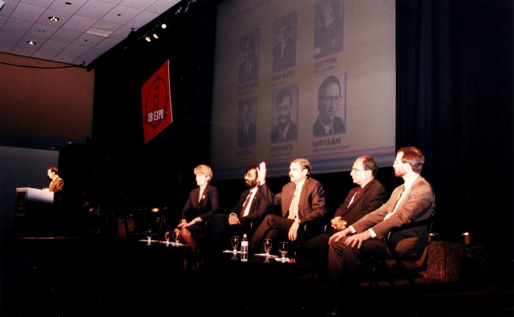 Dave Kalman moderates The Great Debate at dB/Expo (1996?)