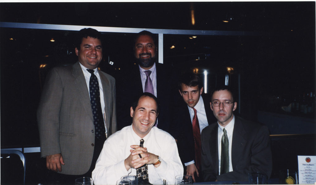 l to r: Kevin Canady, Dave Kalman, Rob Pavone, Paul Calento, Tom Borsellino